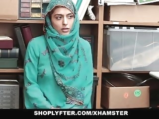 Shoplyfter- Hot Muslim Teen Caught & Harassed brunette cumshot