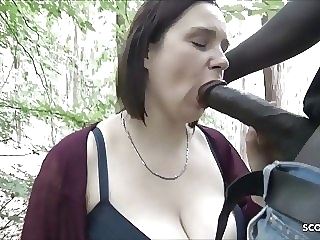 Berlin Street Hooker Quick Fuck Outdoor in Park by Big Black bbw hardcore