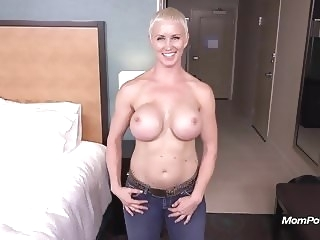 Busty Pixie Slut POV Facial on MomPov amateur facial
