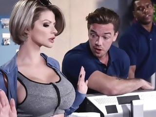 Joslyn James Kyle Mason in Let Me Fuck Your Manager - BrazzersNetwork blonde facial