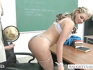 Busty babe Phoenix Marie gets ass fucked in classroom anal blonde