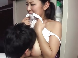 Hot japanese married neighbour teasing me asian japanese
