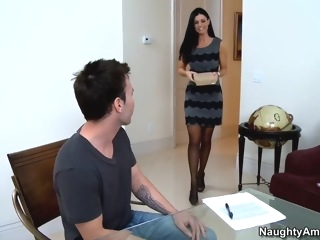 Helping her student with his graduation brunette milf