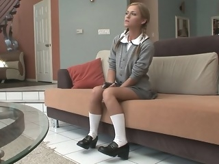A good schoolgirl gets hardcored teens blond