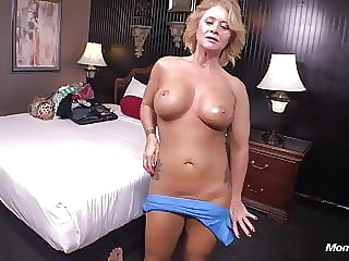 Country MILF loves young cock in her ass anal mature