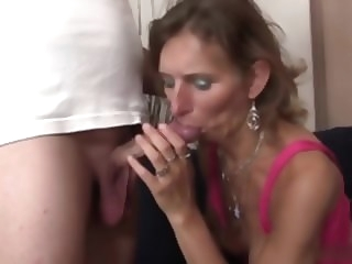 small fry have sexual intercourse all over his mother in law blowjob granny