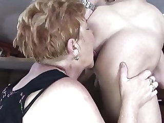Horny grannies fuck at the bar top rated milf