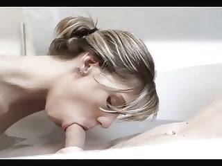 Beautiful tall skinny blonde with small tits blonde blowjob