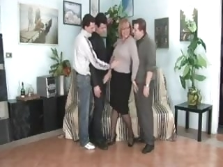 Italian Mature - 3 man gang bang bbw mature