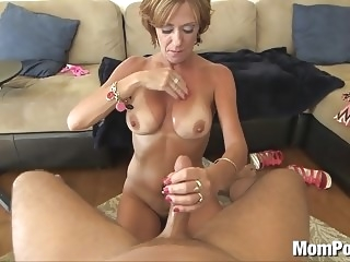 44 year old big tits cougar takes facial mature facial