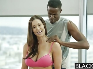 BLACKED Fitness Babe Kendra Lust Loves Huge Black Cock blowjob brunette
