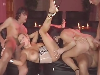 Swingin' Mom's Sex Party (full movie) group sex milf