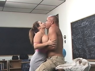Large Titted Teacher big tits straight