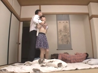 Housewife Yuu Kawakami Fucked Hard While Another Man Watches asian japanese