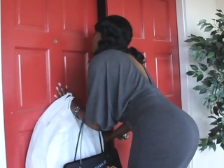 Black mommy giving head while her son's away milf mature