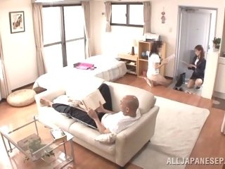 Japanese AV Model is a hot milf in her office suit asian japanese