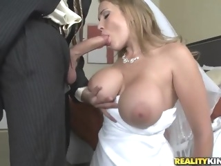 Sexy bride Alanah Rae cheats on her groom with best friend! blond big tits