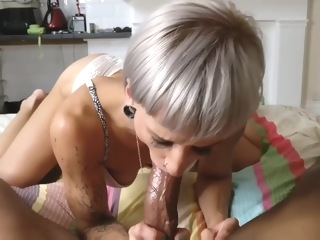 Interracial Foot Fetish Blowjob And Cum Shot straight milf