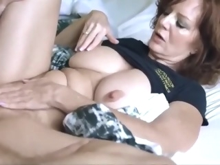 Lucky son with big cock fucked hard his mature mother on vacation anal step fantasy