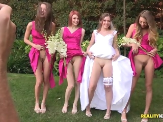 Sweet porno wedding with Aurielle and her palsies blond brunette